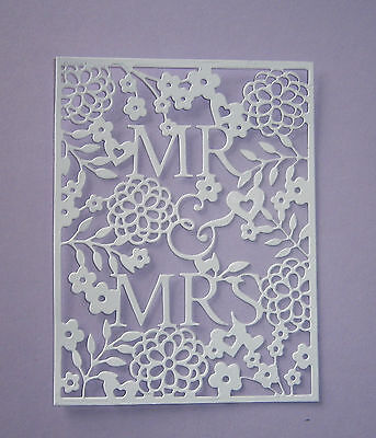 6  Mr And Mrs Wedding/ Anniversary Die Cuts