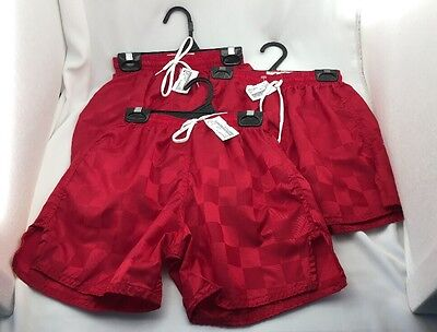 Alleson Youth Soccer Shorts Set of 3 Scarlet Red Size Small S Kids with Tags