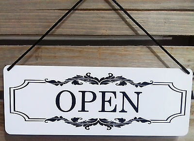 Open/closed Sign Elegant Box Style In White/black Retail/shop Window Sign