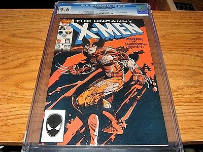 THE UNCANNY X-MEN 212 CGC 9.6 NM+ Wolverine vs. Sabretooth. Claremont Marvel
