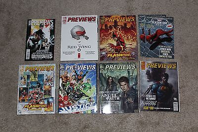Lot of 6 Back Issue Previews Comic Shop Catalogs Feb 2011 to July 2011 +Bonus