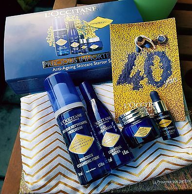 L'Occitane Immortelle Anti Ageing Skincare Starter Set Foam, Essential Water
