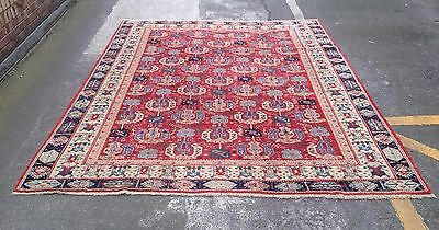 Vintage Hand Woven Turkish Ushak Carpet With All Over Design