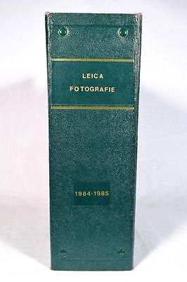 Leica Photography Fotografie Magazine 1984 and 1985, in Binder