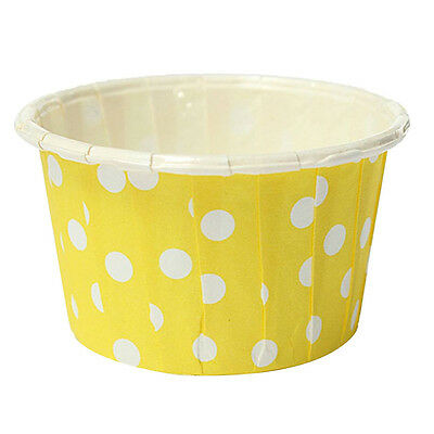 SS 20pcs Paper Cupcake Wrapper Liner Paper Cake Cups Yellow