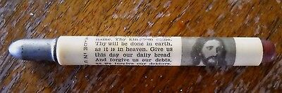 Vintage The Lord's Prayer Bullet Pencil