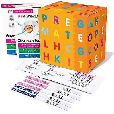 PREGMATE 40 Ovulation LH And 10 Pregnancy HCG Test Strips Combo Predictor Kit