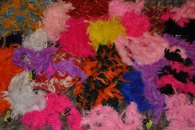 Large Lot of 25 Feather Boas Various Sizes & Colors Costumes, Crafts Scarves 1A