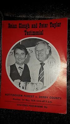 Brian Clough & Peter Taylor Testimonial: Nottingham Forest V Derby County 1978