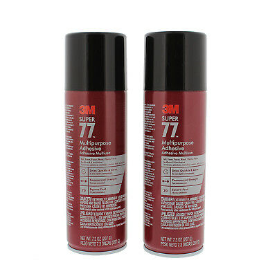 3M 76098 Super 77 Multipurpose Spray Adhesive, 10 oz., 2 Pack