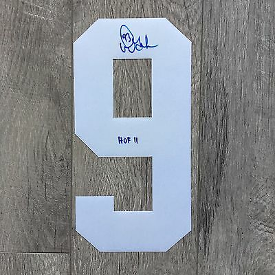 Doug Gilmour Toronto Maple Leafs Autographed Jersey Number (White 9) - Free S/H
