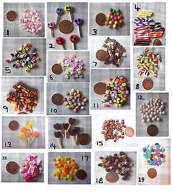 MINIATURE FOOD  candy sweets DOLL FOOD 1 packet  POLYMER CLAY