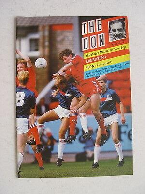 Aberdeen v Sion 1986/87 Cup Winners Cup