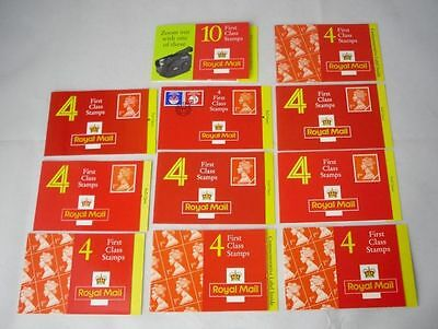 Royal Mail Stamp Booklets 50 x 1st Class Postage Stamps (2017 Value £32.50)