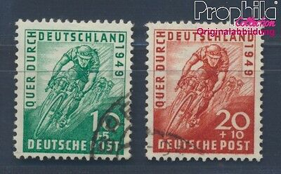 Bizonal (Allied Cast) 106-107 fine used / cancelled 1949 Cycling (8357712