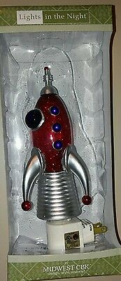Midwest CBK Lights in the Night-Toy Space Rocket ship- night light