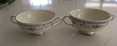 2  Vintage Bellemeade MINTON Bone China SOUP CUPS / BOWLS,  Made in England