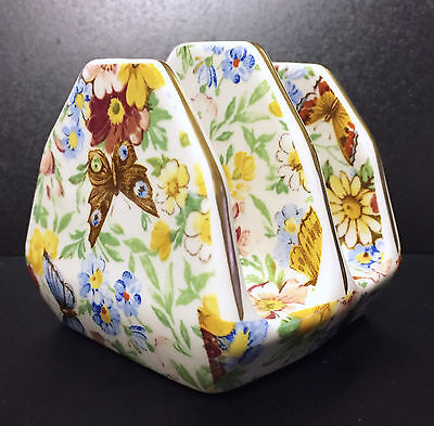 Vintage Wade China Butterfly Chintz Toast Rack