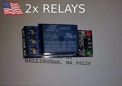 2x 12V 1 Channel Relay Module Board Shield For PIC AVR DSP ARM Arduino 10A DC AC