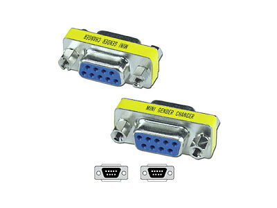 Serial DB9 RS232 Female to Female Adapter Converter Connectors
