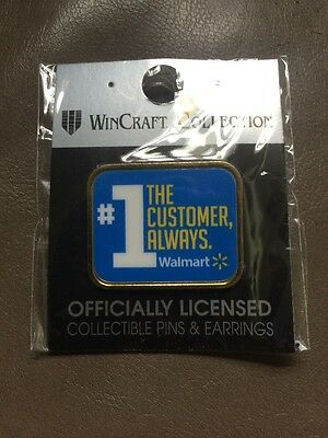 "Walmart Pin ""customer Is Always #1"" Shareholders Save Money Live Better Collect"