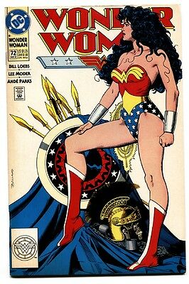 WONDER WOMAN #72 DC comic book 1993-BOLLAND COVER-ICONIC