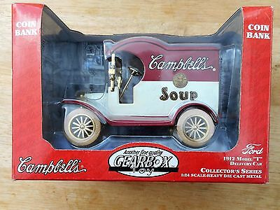 Campbell's Soup Bank  1912 Ford Model T Delivery Car made in 1997  Mint