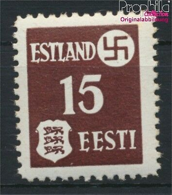 Estonia  German cast WW2 1x thick Coated Paper MNH 1941 Postage stamp (8894105