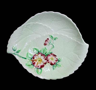 Vintage Carlton Ware apple blossom green leaf dish in lovely condition