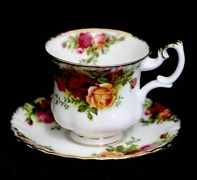 Vintage Royal Albert Old Country Roses 1962-1973 backstamp coffee cup DUO