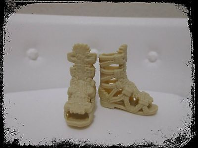 NEW fashionistas ADD ons evolution barbie doll beige sandals shoes  roman style