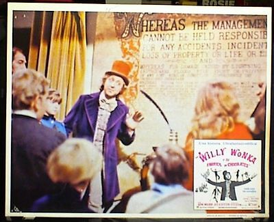 """""""WILLY WONKA AND THE CHOCOLATE FACTORY"""" 1971, Complete Set of All 8 Lobby Cards"""