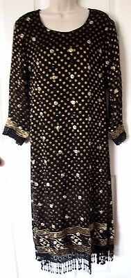 Pakistani Indian Black Salwar Shalwar Kameez Eid Party Wear