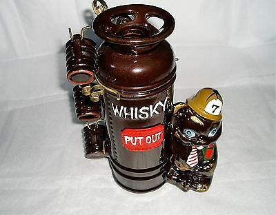 Vintage ceramic Whisky Decanter with 6 shot glasses made in Japan