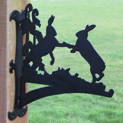 Boxing Hares Hanging Basket Bracket