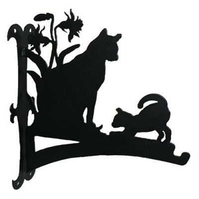 Cat and Kitten Hanging Basket Bracket