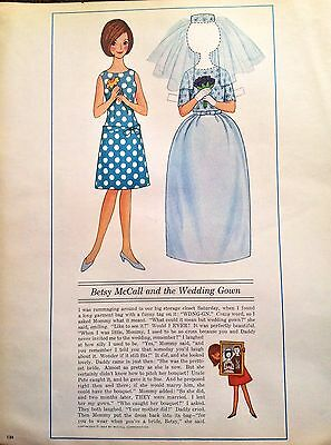 Betsy McCall Mag. Paper Doll, Betsy McCall and the Wedding Gown, June 1964
