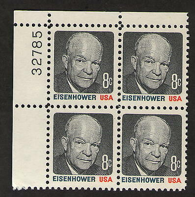 US. 1394. Eisenhower. PB4. Mint. NH