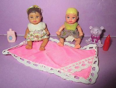 Barbie Happy Family Baby Krissy Chrissy Infant Brunette Hair w/ Outfit Toys Lot