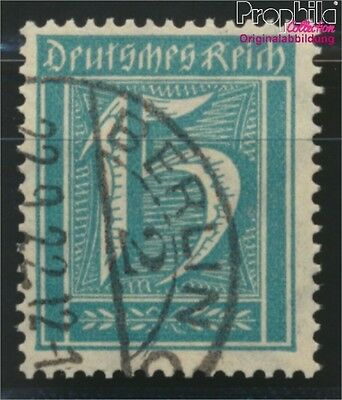German Empire 179 proofed fine used / cancelled 1921 Drawing numbers (8984306