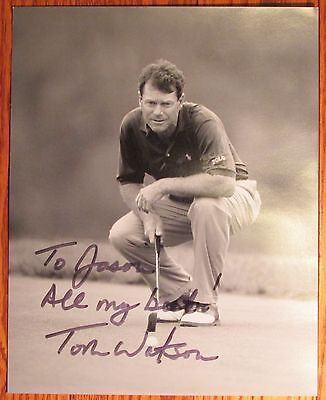 Tom Watson Autographed Photo (Putting) Signed to Jason All my best! Golf golfing