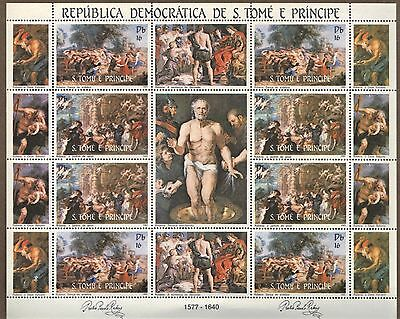 S.Tome & Principe 1983 EASTER Rondo & Garden of Love by Rubens MNH MS SC # 692
