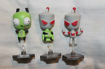 INVADER ZIM Bobblehead Blind Bag Mini Figure collectables GIR 2 inch LOT 3 toys