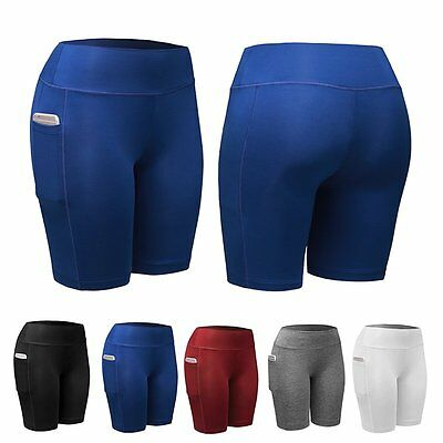 Women Sports Shorts Compression Athletic Pants Gym Fitness Running Yoga Trousers