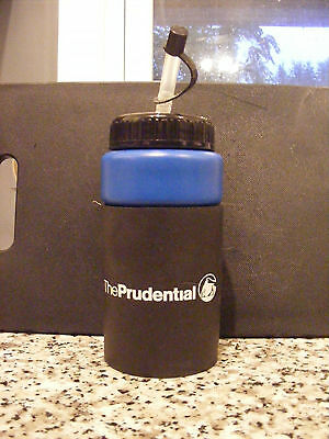 New Prudential Insurance Company Black & Blue Plastic Water Bottle w/ Rock Logo