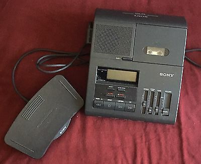 SONY BM-850 MICROCASSETTE  DICTATOR/TRANSCRIBER With Pedal UNTESTED