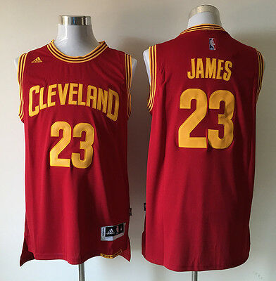 New Red blue Basketball Jerseys Cleveland Cavaliers #23 LeBron James Size:S-XXL