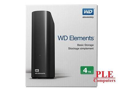 "WD Elements 4TB USB3.0 3.5"" Black External HDD[WDBBKG0040HBK]"
