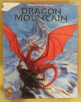 DRAGON MOUNTAIN Advanced Dungeons & Dragons AD&D 2e Boxed Set TSR1089