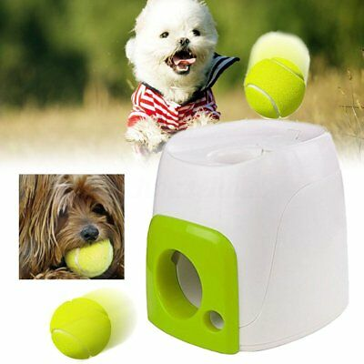 Interactive Pet Dog Fetch N Treat Automatic Dispenser Trainer Ball Play Game Toy